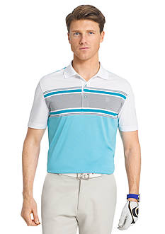 IZOD Short Sleeve Members Engineered Stripe Polo Shirt