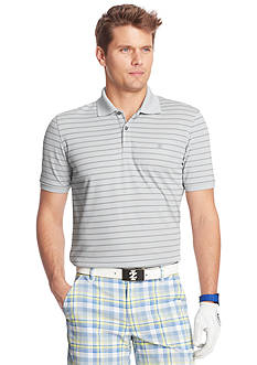 IZOD Golf Short Sleeve Textured Stripe Polo