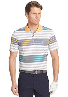 IZOD Golf Short Sleeve Surfs Up Stripe Polo