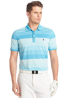 IZOD Golf Short Sleeve Faded Rose Auto Stripe Jersey Polo