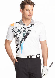 IZOD Golf Short Sleeve Rippling Printed Polo