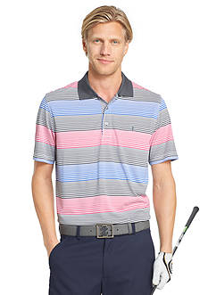 IZOD Golf Men's Striped Polo Golf Shirt