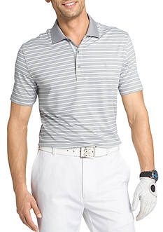 IZOD Short Fairway Stripe Jersey Polo Shirt