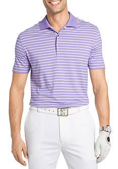 IZOD Short Fairway Stripe Jersey Polo Shirt