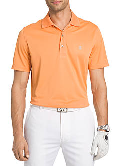 IZOD Short Sleeve Champion Grid Polo Shirt