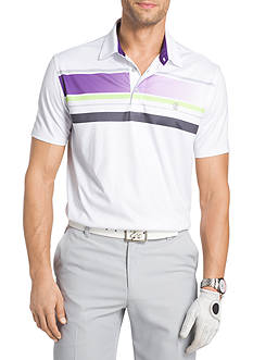 IZOD Short Sleeve Artisan Placement Print Polo Shirt
