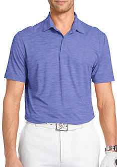 IZOD Short Sleeve Title Holder Space Dye Polo Shirt
