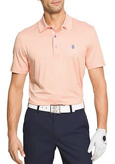 IZOD Short Sleeve Stretch Stripe Polo Shirt