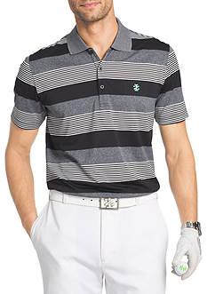 IZOD Short Sleeve Redbud Auto Stripe Polo Shirt