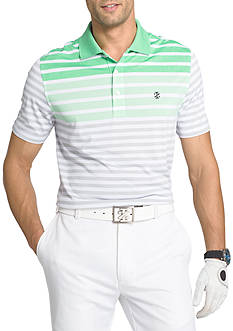 IZOD Short Sleeve Longleaf End Stripe Polo Shirt