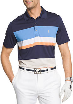IZOD Short Sleeve Intrepid Stripe Jersey Polo Shirt