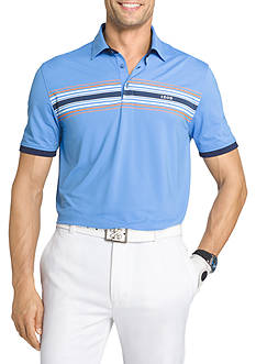 IZOD Short Sleeve Stripe Printed Polo Shirt