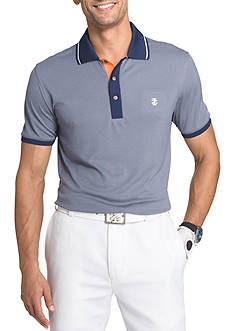 IZOD Short Sleeve Golfers Oxford Polo Shirt