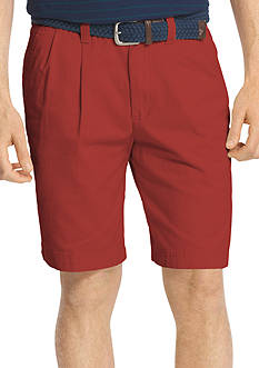 IZOD 9.5-in. Saltwater Double Pleated Shorts