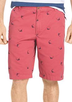 IZOD Flat Front Schifli Shorts