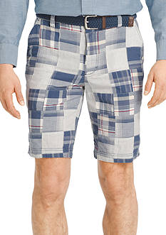 IZOD Madras Patchwork Shorts