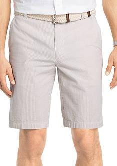 IZOD Seersucker Flat Front Shorts