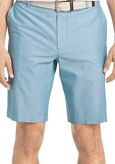 IZOD Newport Oxford Flat Front Shorts