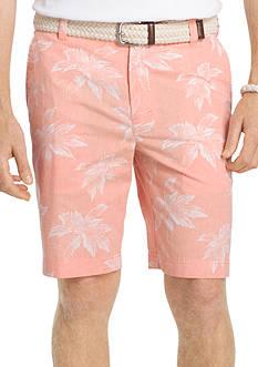 IZOD Leaf Reverse Print Shorts
