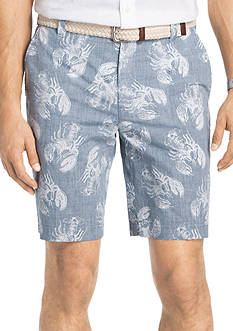 IZOD Lobster Reverse Print Shorts