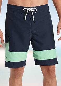 IZOD Colorblock Cargo Board Shorts