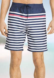 IZOD Striped Boardshorts