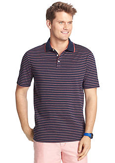 IZOD Short Sleeve Feeder Stripe Polo