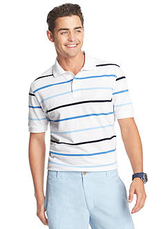 IZOD Short Sleeve Striped Pique Polo Shirt