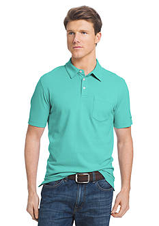 IZOD Short Sleeve Solid Chatham Clique Pocket Polo Shirt