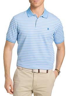 IZOD Thin Stripe Advanced Polo Short Sleeve Shirt