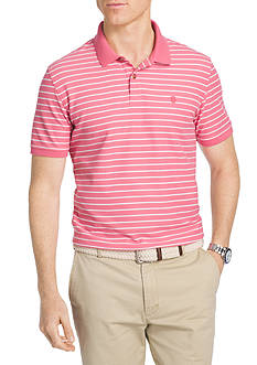 IZOD Thin Stripe Advanced Polo Short Sleeve Shirt
