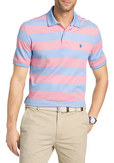 IZOD Striped Oxford Advantage Polo