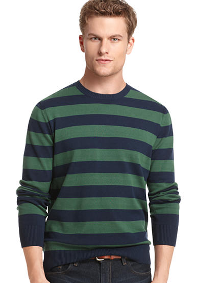 IZOD Allover Stripe Crew Neck Sweater