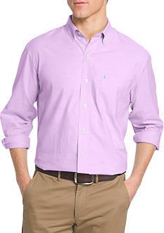 IZOD Solid Oxford Long Sleeve Shirt