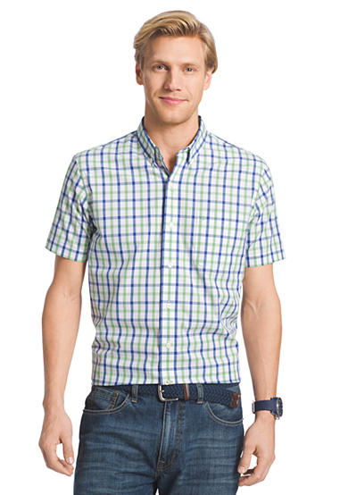 Izod short sleeve button down no iron shirt for Izod button down shirts