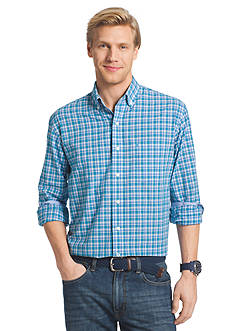 IZOD Long Sleeve Poplin Button Down Shirt