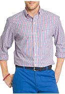 IZOD Essential Long Sleeve Button Down Tattersall