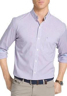 IZOD Advantage Stretch Non-Iron Striped Shirt