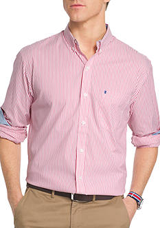 IZOD Advantage Stretch Non-Iron Striped Shirt