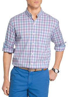 IZOD Advantage Stretch Non-Iron Plaid Shirt