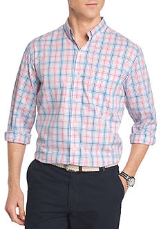 IZOD Advantage Stretch Non-Iron Plaid Shirt