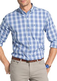 IZOD Advantage Stretch Non-Iron Tonal Plaid Shirt