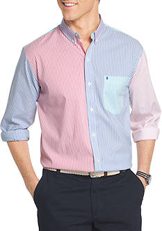 IZOD Newport Oxford Striped Shirt