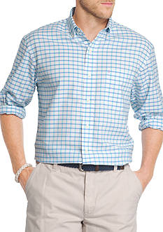 IZOD Tattersal Oxford Long Sleeve Shirt