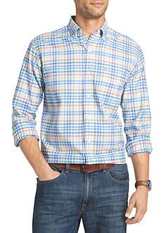 IZOD Multi Plaid Long Sleeve Oxford Shirt