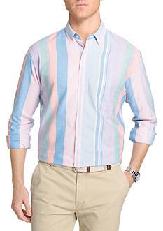 IZOD Multi Stripe Long Sleeve Oxford Shirt