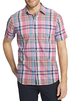IZOD Multi Plaid Short Sleeve Shirt