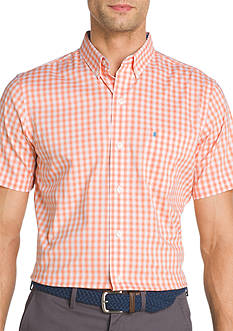 IZOD Advantage Gingham Short Sleeve Shirt