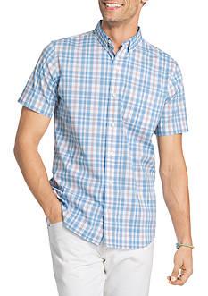 IZOD Medium Check Short Sleeve Plaid Shirt
