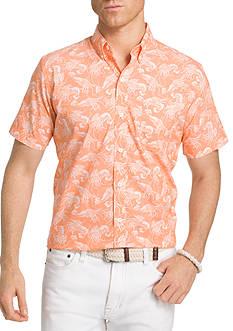 IZOD Advantage Print Short Sleeve Shirt